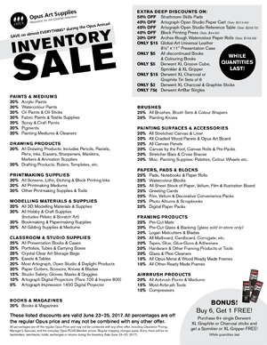 Inventory Sale List