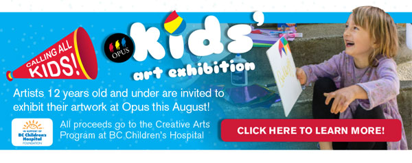 Opus Kids' Art Exhibition begins Aug 1st!