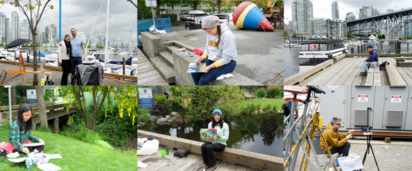 Granville Island Outdoor Painting Challenge: May, 2014