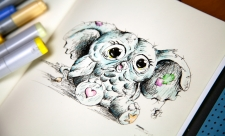 Drawing Creative Creatures - Getting Social for National Pencil Day