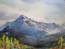 The Mountain Landscape in Watercolour