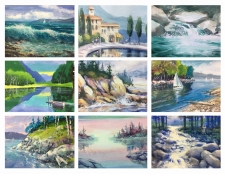 Painting Water: Waves, Reflections, Motion and Transparency