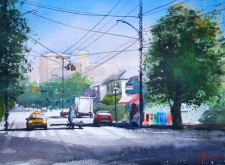 Confident Watercolour - Streetscapes