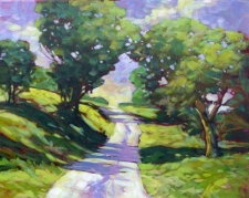 A Country Road - Impressionistic Landscape in Acrylic