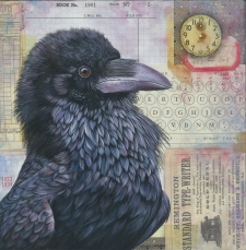 Painting Ravens with Character & Attitude Using Fluid Acrylics & Mixed Media