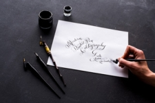 Elegant Pointed Pen Calligraphy
