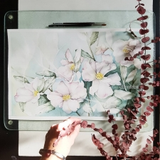 Realistic Watercolour Flowers