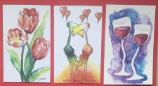 Painting Cards in Watercolour