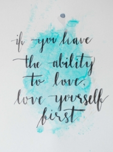 Modern Calligraphy and Mixed Media Painting