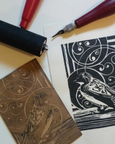 Impressive Linocut - Exploring Printmaking for Art, Cards, and Fabric