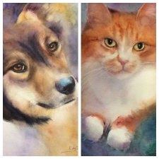 Painting Pets in Watercolour