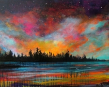 Intuitive Landscapes in Acrylics