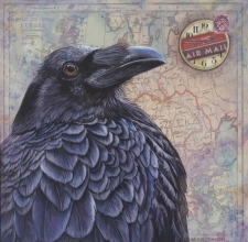 Painting Ravens with Character and Attitude Using Fluid Acrylics & Mixed Media