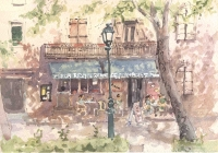 Cafe des Promenades, Watercolour