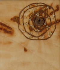 Fibre Art - quilting, couching, beading, dye rusting