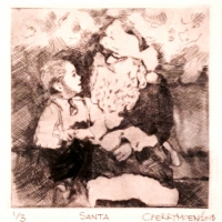 Drypoint Etching, Chine Colle