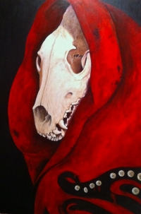 Portrait of Sorts, Twist on Red Riding Hood Story
