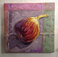 #39 Brown Turkey Fig, Artisan paints on canvas