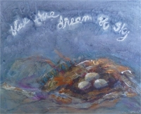 """painting inspired by e.e. cummings poem 18""""x24"""""""