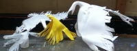 Small Birds from Recycled Plastic