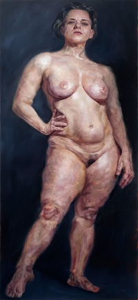 "Oil on canvas - 65"" x 28"""