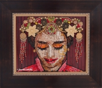 Mosaic portrait - Bride