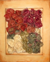 Encaustic and Fabric