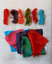 Kool Aid dyed swatches