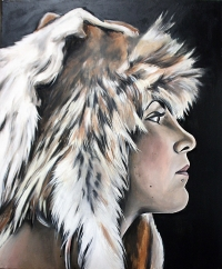 "oil painting on canvas, 24"" x 36"""