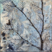 encaustic on panel