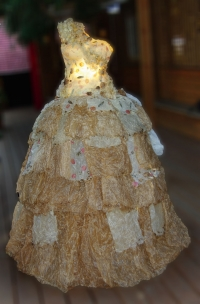 wax and paper dress - installation