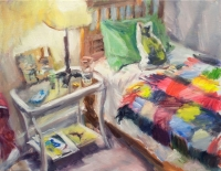 A Room in Mount Pleasant, oil on canvas, 14 x 18 inches, 2015