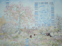 3'X4' landscape with face