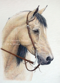 Western Pleasure (coloured pencil drawing)