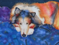 Waiting for Walk Time (silk painting)