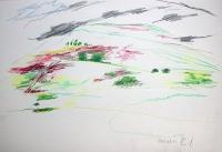 Coloured pencil on paper, 24x18 in, 2010 River Lewis Okanagan artist drawing