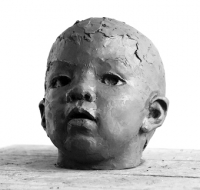 Child's head - figurative sculpture