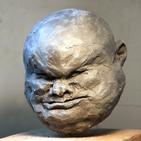 Perplexity Series - figurative sculpture head