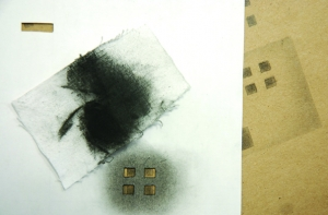 Charcoal and Stencil
