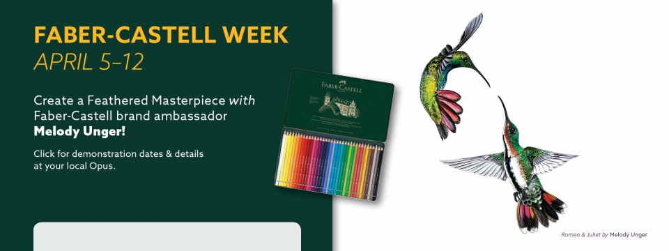 Attend a demonstration with Faber-Castell Brand Embassador, Mel Unger