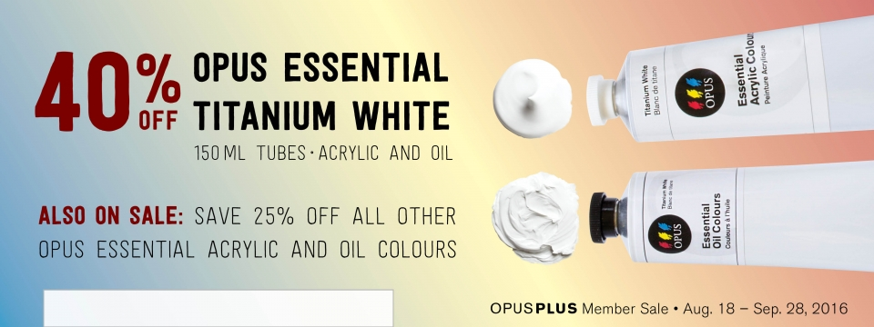 40% off Opus Titanium white in Acrylic and Oil
