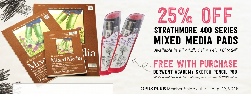 Strathmore Mixed Media Pads and Free Gift