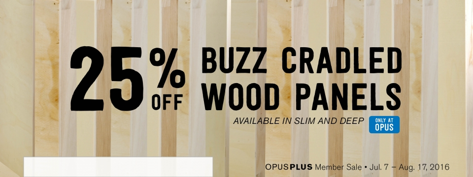 25% off Buzz Cradled Wood Panels