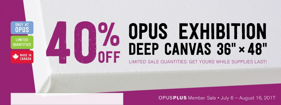 40% off Opus Exhibition Canvas 36 inches by 48 inches