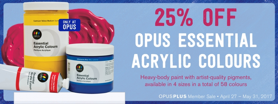 25% off Opus Essential Watercolours