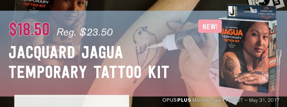 Save $5 off Jacquard Jagua Temporary Tattoo Kit