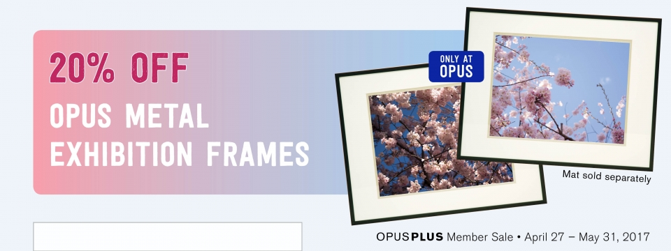 20% off Opus Metal Exhibition Frames