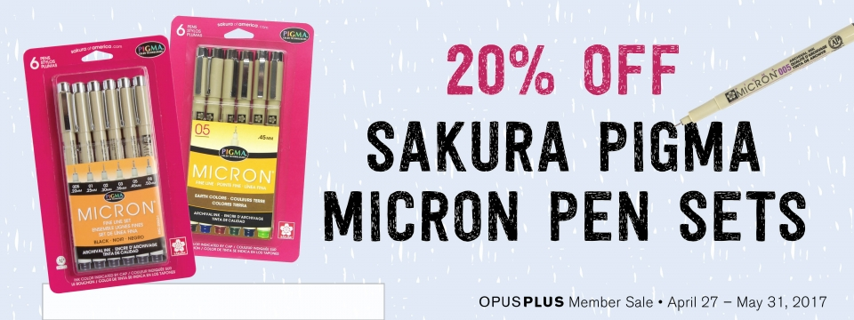 20% off Sakura Pigma Pen Sets