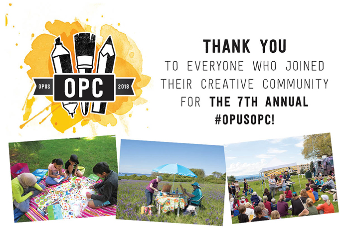 Thank you to everyone who joined their creative community for the 7th Annual #OpusOPC!
