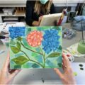 Floral Collage Painting Workshop